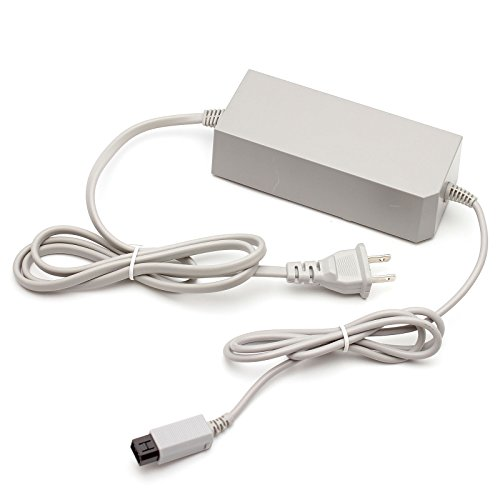 Nulink™ AC Power Supply Adapter Unit Replacement with Wall Power Cord for Nintendo Wii ()