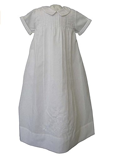 Feltman Brothers Boys Embroidered Collar White Christening Gown (9-12M)