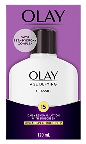 OLAY Age Defying Classic Daily Renewal Lotion, With Sunscreen, Classic 4 oz Pack of 6