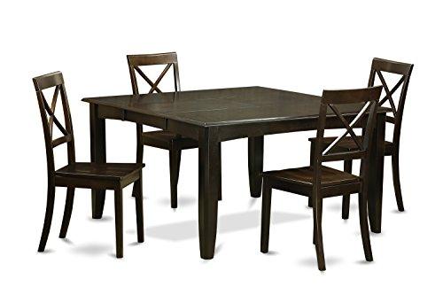 - East West Furniture PFBO5-CAP-W Dining Set 5-Piece Cappuccino Finish