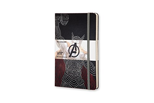 Moleskine The Avengers Limited Edition Notebook, Large, Ruled, Black, Thor, Hard Cover (8055002852746)