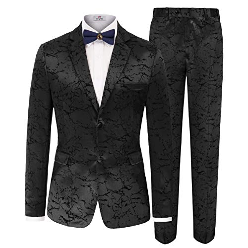 Men's Stylish Dinner Jacket Wedding Blazer Prom Tuxedo Blazer Size M Black