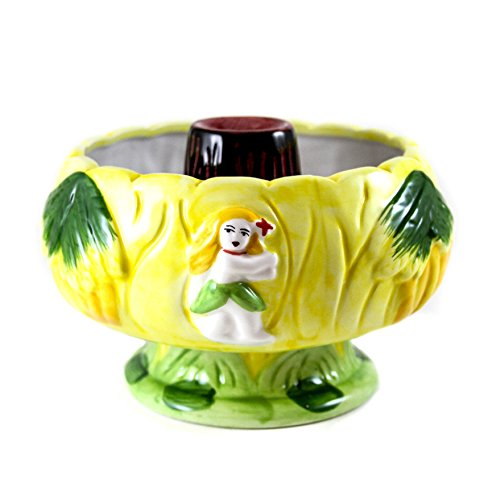 - Tiki Volcano Ceramic Drink Bowl - 32 Ounces Scorpion Cocktail Vessel
