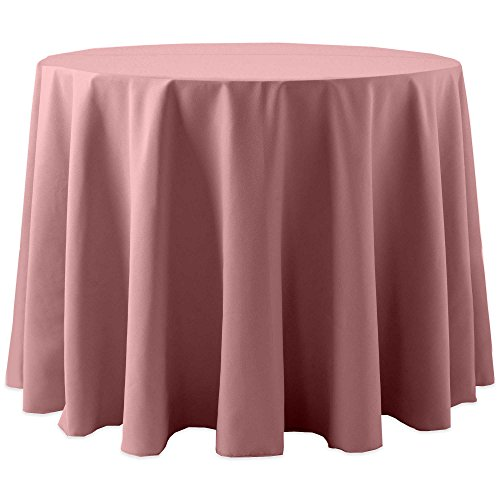 Ultimate Textile Cotton-feel 60-Inch Round Tablecloth Dusty Rose Light Pink - Pink Rose Table