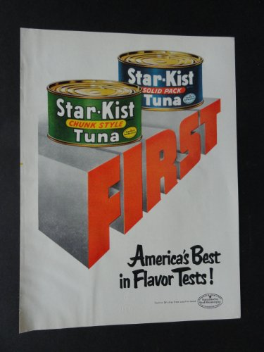 star-kist-tuna-full-page-print-ad-8-1-2-x-11-1-4-color-illustration-americas-best-original-1953-good