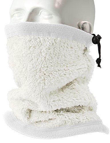 H2H SPORT Mens Winter Velboa Faux Fur Scarf Neck-Warmer WHITE ONESIZE (KMASC014)