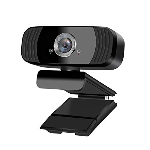 Webcam Full HD 1080P Computer Camera, 110-Degree Widenscreen Streaming Web Camera Built-in Dual Microphone Used for Video Conferencing, Recording, and Live Streaming, Compatible with Windows Android