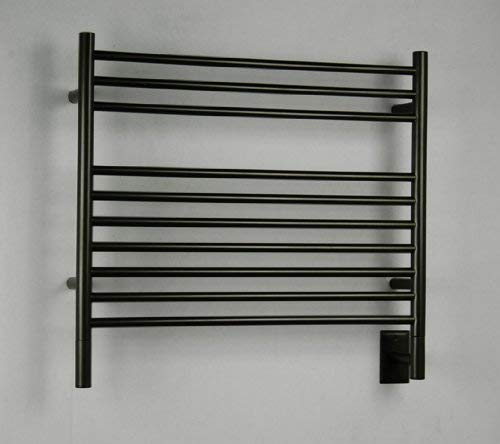 QBC Bundled Amba Heated Towel Warmer - Jeeves - KSO Model K Straight - Oil Rubbed Bronze 29.5W x 27H - 150 to 175 Watts 1.35 to 1.6 Amps - Plus Free QBC Towel Warmer Guide