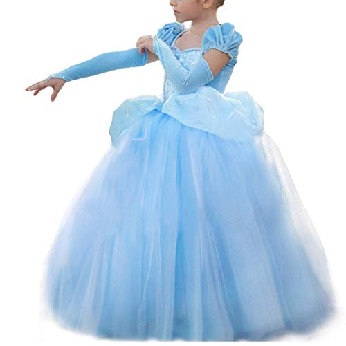 Cinderella Costumes for Girls Princess Dress Up Fancy Halloween Christmas Party