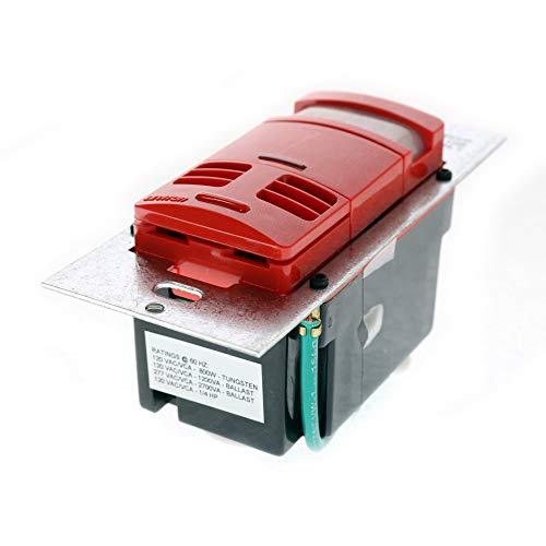 Leviton OSSMT-MDR Multi-Technology PIR Ultrasonic Wall Switch Occupancy Sensor, Red