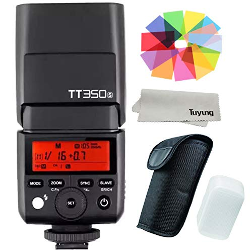 Godox Thinklite TTL TT350S Mini Camera Flash High Speed 1/8000s GN36 for Sony Mirrorless DSLR Camera A77II A6000 A6500 RX10 Series (Sony A58 Flash)