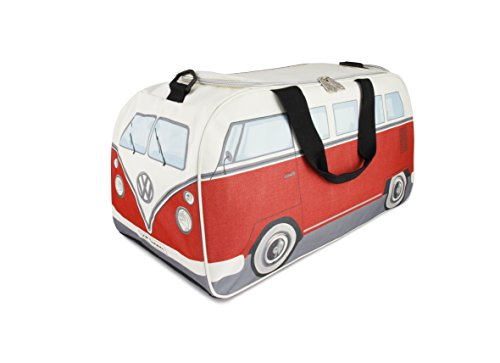 (BRISA VW Collection VW T1 Bus Gym Bag - Red/Beige)