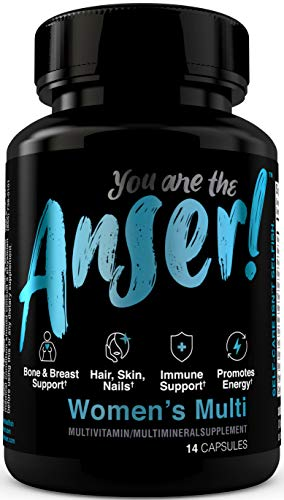 Anser Once Daily Women's Multivitamin by Tia Mowry with Full B-Complex Vitamins – Hair, Skin & Nail Support – Promotes Energy -Bone, Breast & Immune Support -Digestive Blend for Stomach Comfort 14ct