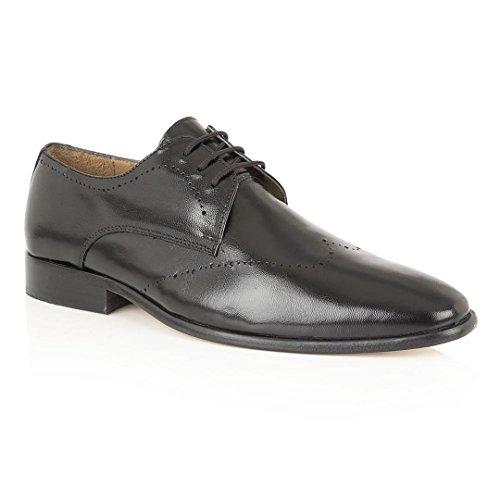 Rombah Wallace Zapatos de cordones de Piel para hombre Negro negro