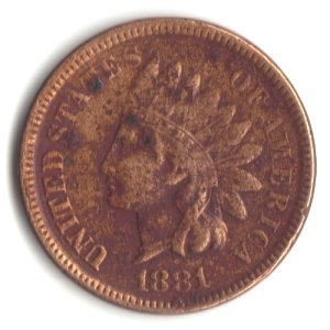 1881 U.S. Indian Head Cent / Penny Coin
