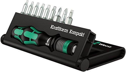 Wera Bitsortiment und Bit-Handhalter mit Schnellwechselfutter, Kraftform Kompakt 11, 10-teilig, 05056652001
