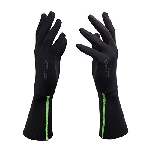WETSOX GEN II Gloves, Frictionless Wetsuit Glove Liners for Diving and Surfing, Get In and Out of Wetsuits or Wetsuit Gloves Easily, Increases Life of Gear, Ultra thin Poly/Spandex Material (X-Large)