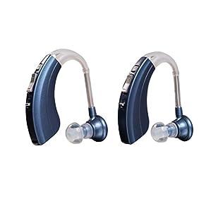 Digital Hearing Amplifiers Qty 2 Modern Blue 500hr Battery by Britzgo BHA-220D - 1 Year Warranty!