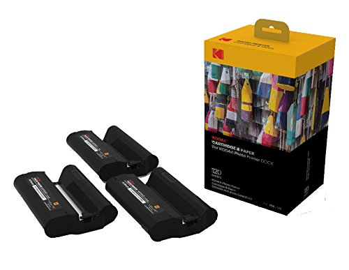 Kodak Dock & Wi-Fi Photo Printer Cartridge PHC – Cartridge Refill & Photo Sheets - 120 Pack (Compatible with PD450, PD480) (Camera Dock With Kodak Printer)