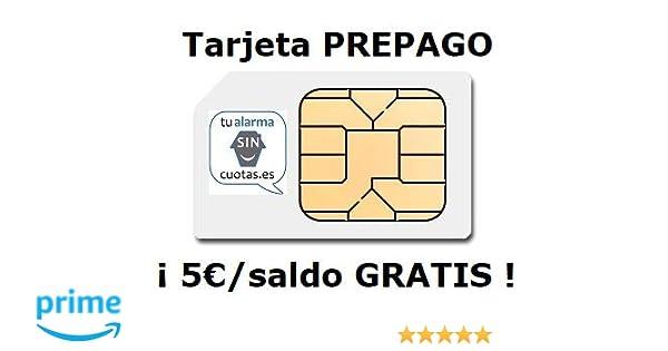 Tarjeta SIM PREPAGO con 5 Euros y multiformato, SIN cuotas ...