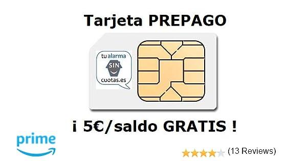Tarjeta SIM PREPAGO con 5 Euros y multiformato, SIN cuotas fijas mensuales NI permanencia, con Recarga automática Opcional ¡¡ para Cualquier ...