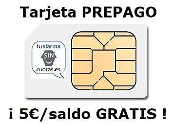 Tarjeta SIM PREPAGO con 5 Euros y multiformato, SIN cuotas fijas ...