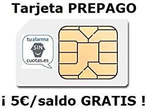Tu Alarma Sin Cuotas - Tarjeta SIM PREPAGO con 5 Euros y ...