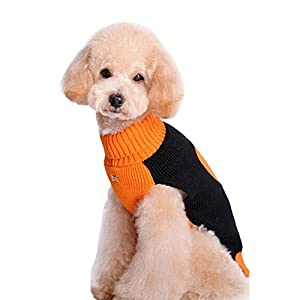 BOBIBI Pet Holiday Halloween Pumpkin Pet Clothes Dog Sweater