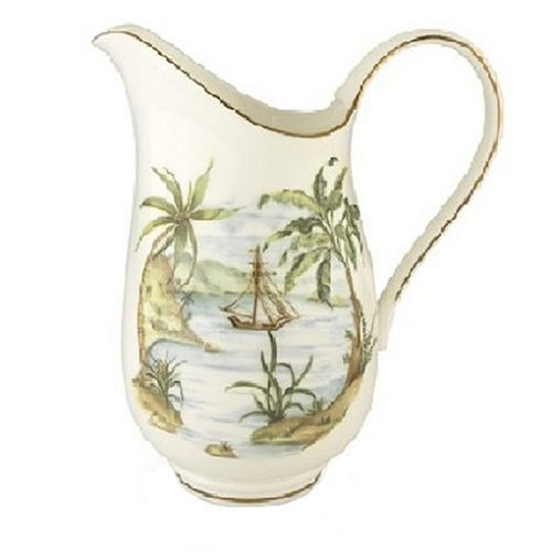 Lenox British Colonial Accessories Gold Banded Bone China Large Pitcher by Lenox