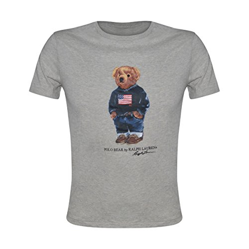 Polo Ralph Lauren Mens Limited Polo Bear T-Shirt (Small, Grey Denim) by Polo Ralph Lauren