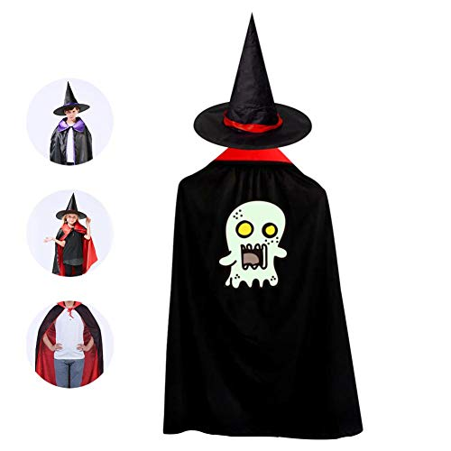 Boo Halloween Costumes Witch Wizard Cloak With Hat For Christmas Halloween Cosplay Boys Girls -