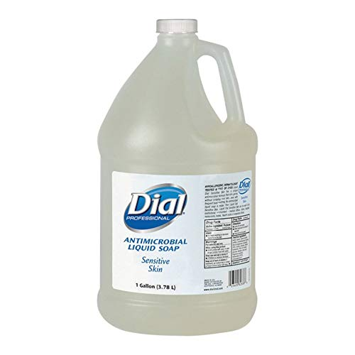 Dial Sensitive Skin Antimicrobial Soap Refill - 1 gal (3.8 L) - Kill Germs - Skin, Hand - Clear - Antimicrobial - 1 - Antimicrobial Hand Soap