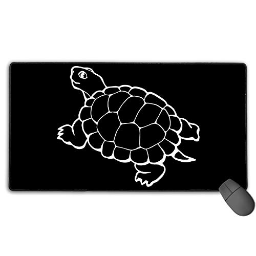 LNUO-2 Large Gaming Mouse Pad/Mat, Tortoise Clipart Custom Mouse Pads with Non-Slip Rubber Base for Office & Home, Durable Stitched Edges]()