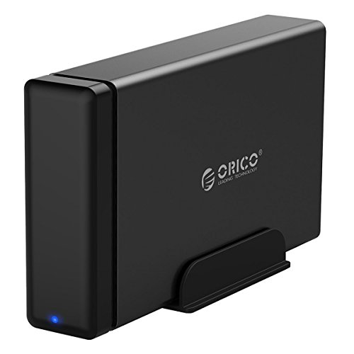 ORICO 3.5 inch Hard Drive Enclosure, USB 3.0 to SATA III HDD SSD, [Support 10 TB Drive and UASP], Magnetic Plate/Tool free by ORICO