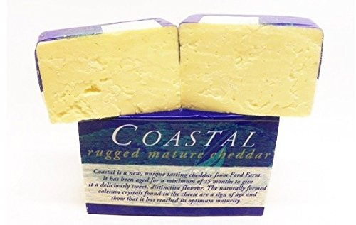 Coastal Rugged Mature Cheddar Cheese from England - Sold by the pound (Mature Cheddar Cheese)