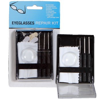 - Deluxe Eyeglass Sunglass Reading Glasses Repair Tool Kit & Storage Case