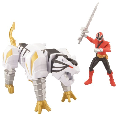 Power Ranger Zord Vehicle w/Figure, TigerZord with Red Ranger ()