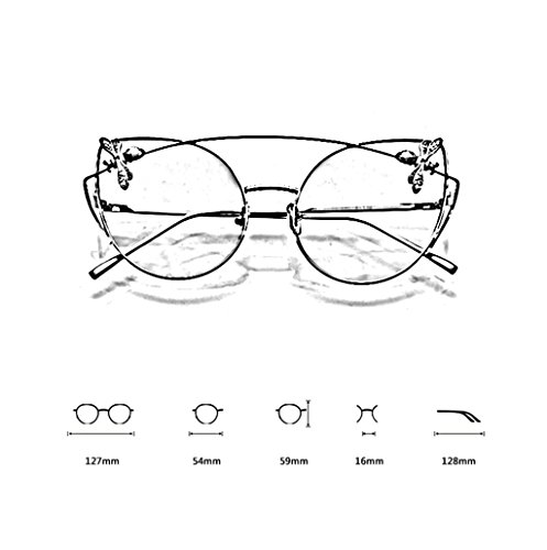 X223 Cat de C Light Bee des Couleur Transparentes Soleil Soleil Lunettes Lunettes Eye Lunettes Bee B Gradient de g5qq6Rw4