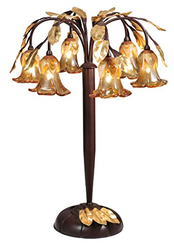 Meyda Tiffany 82761 Celestial Bouquet 6 Light Table Lamp, 21