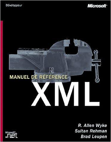 Livres Manuel de Référence XML pdf ebook