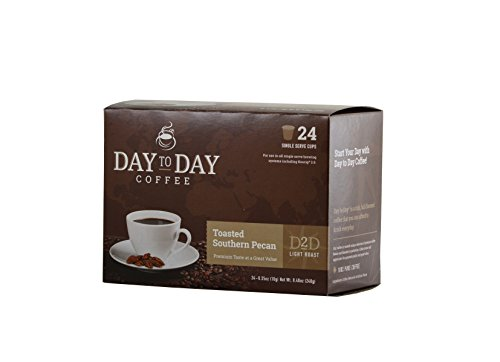 Day to Day Toasted Southern Pecan Single Serve Coffee Cups, Fits Keurig K Cup Brewers, Box of 24 (03614) (Southern Toasted Pecan)