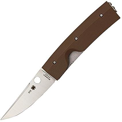 Spyderco Nilakka G-10 Plain Edge Knife, Brown