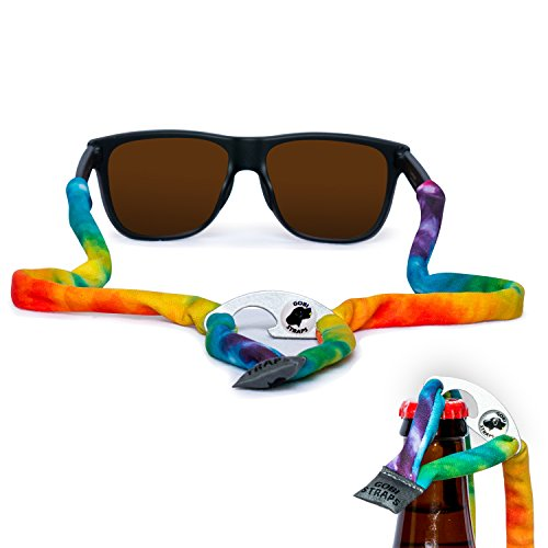 Sunglass Straps by Gobi Straps – Built-In Bottle Opener | Sunglass Retainers, Sunglass Lanyard, Sunglass Cord | Quick Drying | Classic Tie - Dye Tie Glasses