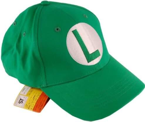 Super Mario Brothers Luigi Green Baseball Cap