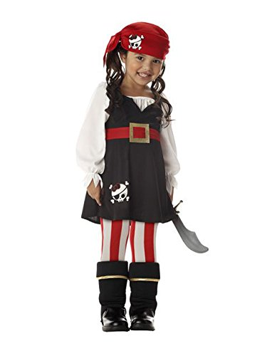 (Precious Lil' Pirate Girl's Costume, Toddler M (3-4), One)