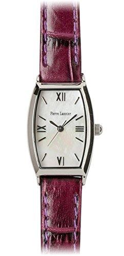 PIERRE LANNIER watch Tonneau Watch Silver / Croco embossed purple P131D690 C21 Ladies