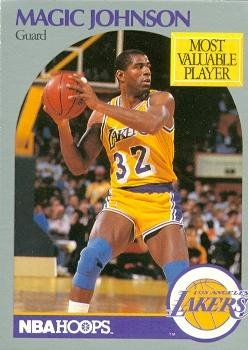 9d988ac6fb74 Image Unavailable. Image not available for. Color  Magic Johnson basketball  card (Los Angeles Lakers) 1990 ...