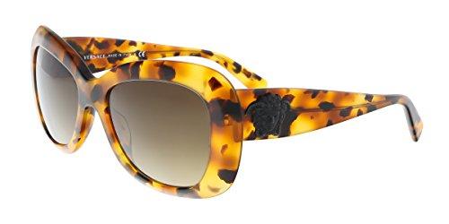 Versace Havana Sunglasses (Versace Women's VE4317 Sunglasses Light Havana / Brown Gradient 54mm)