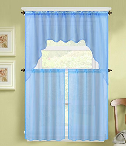 Top 5 Best Kitchen Curtains Valances And Swags Blue For