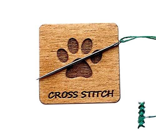 Needle nanny Needle minder Needle keeper needlework tool Cross stitch tool 30 MM Translucent Purple Flower Magnetic Needleminder